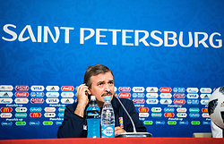 June 21, 2018 - Sankt Petersburg, Russia - 180621 Head coach Oscar Ramirez of Costa Rica during a press conference during the FIFA World Cup on June 21, 2018 in Sankt Petersburg..Photo: Petter Arvidson / BILDBYRN / kod PA / 92074 (Credit Image: © Petter Arvidson/Bildbyran via ZUMA Press)
