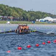 Emma Dyke, Lucy Spoors, Rebecca Scown, Kelsi Walters, Kelsey Bevan, Georgia Perry, Ashlee Rowe, Ruby Tew and coxswain Sam Bosworth New Zealand Womens Eight<br /> <br /> Qualification heats at the World Championships, Sarasota, Florida, USA Tuesday 26 September 2017. Copyright photo © Steve McArthur / Rowing NZ