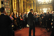 BILL CASH; GIVING SPEECH, Celebration of the  200TH Anniversary of the  Birth of Rt.Hon. John Bright MP  and the publication of <br /> ÔJohn Bright: Statesman, Orator, AgitatorÕ by Bill Cash MP. Reform Club. London. 14 November 2011. <br /> <br />  , -DO NOT ARCHIVE-© Copyright Photograph by Dafydd Jones. 248 Clapham Rd. London SW9 0PZ. Tel 0207 820 0771. www.dafjones.com.<br /> BILL CASH; GIVING SPEECH, Celebration of the  200TH Anniversary of the  Birth of Rt.Hon. John Bright MP  and the publication of <br /> 'John Bright: Statesman, Orator, Agitator' by Bill Cash MP. Reform Club. London. 14 November 2011. <br /> <br />  , -DO NOT ARCHIVE-© Copyright Photograph by Dafydd Jones. 248 Clapham Rd. London SW9 0PZ. Tel 0207 820 0771. www.dafjones.com.