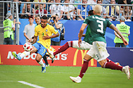 Gabriel Jesus of Brazil during the 2018 FIFA World Cup Russia, round of 16 football match between Brazil and Mexico on July 2, 2018 at Samara Arena in Samara, Russia - Photo Thiago Bernardes / FramePhoto / ProSportsImages / DPPI