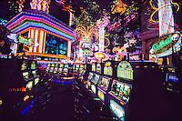 Slot machines, Peppermill Hotel Casino, Reno, Nevada USA