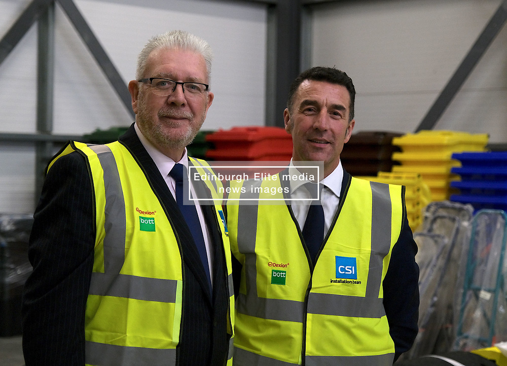 Helping Businesses Prepare For Brexit, Livingston, Thursday 1st November 2018<br />  <br /> Constitutional Relations Secretary Michael Russell launched a new dedicated online domain and a specially designed Brexit self-assessment tool in Livingston.<br /> <br /> The self-assessment tool will help businesses identify how Brexit might affect them, providing bespoke recommendations for action to help their planning activities. It will also be home to the Brexit toolkit, 15-point checklist, news, articles, access to experts and event listings.<br /> <br /> The launch was made during a visit to CSI Group (Complete Storage Interiors) in Livingston where Mr Russell talked to the company about the challenges Brexit poses for business, particularly SMEs.<br /> <br /> Pictured: CSI Group Managing Director Robert Kennedy (right) and Michael Russell<br /> <br /> Alex Todd | Edinburgh Elite media