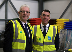 Helping Businesses Prepare For Brexit, Livingston, Thursday 1st November 2018<br />  <br /> Constitutional Relations Secretary Michael Russell launched a new dedicated online domain and a specially designed Brexit self-assessment tool in Livingston.<br /> <br /> The self-assessment tool will help businesses identify how Brexit might affect them, providing bespoke recommendations for action to help their planning activities. It will also be home to the Brexit toolkit, 15-point checklist, news, articles, access to experts and event listings.<br /> <br /> The launch was made during a visit to CSI Group (Complete Storage Interiors) in Livingston where Mr Russell talked to the company about the challenges Brexit poses for business, particularly SMEs.<br /> <br /> Pictured: CSI Group Managing Director Robert Kennedy (right) and Michael Russell<br /> <br /> Alex Todd   Edinburgh Elite media