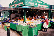 A752MD Fruit and vegetable market stall Great Yarmouth Norfolk England