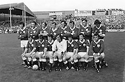 The Galway team before the All Ireland Senior Gaelic Football Championship Final Dublin V Galway at Croke Park on the 22nd September 1974. Dublin 0-14 Galway 1-06. G Mitchell (capt), J Waldron, J Cosgrove, B Colleran, L O'Neill, T J Gilmore, J Hughes, W Joyce, M Rooney, T Naughton, J Duggan, P Sands, C McDonagh, L Sammon, J Tobin, Sub J Burke for C McDonagh.