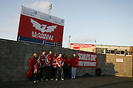 scenes in and around Stradey Park, Llanelli on 24th Oct 2008 as the last ever match , Scarlets v Bristol is played at the famous ground.