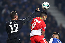 December 6, 2017 - Porto, Porto, Portugal - Porto's Portuguese goalkeeper Jose Sa (L) in action with Radamel Falcao (R) forward of AS Monaco FC during the UEFA Champions League Group G match between FC Porto and AS Monaco FC at Dragao Stadium on December 6, 2017 in Porto, Portugal. (Credit Image: © Dpi/NurPhoto via ZUMA Press)
