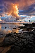 Beautiful Hawaiian Sunset in Kauai