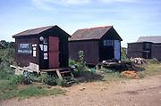 AJDJ6D Walberswick ferry fishermen s sheds Suffolk England