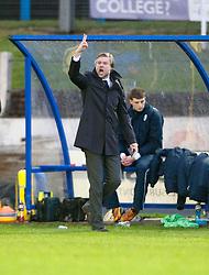 Steven Pressley, Falkirk manager..Cowdenbeath 4 v 1 Falkirk, 9/2/2013..©Michael Schofield.
