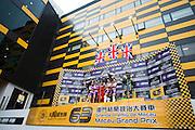 November 16-20, 2016: Macau Grand Prix. 2 Michael RUTTER, Bathams/SMT Racing, 1 Peter HICKMAN, Bathams/SMT Racing, 40 Martin JESSOPP, Riders Motorcycles BMW