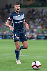 January 26, 2019 - Melbourne, VIC, U.S. - MELBOURNE, AUSTRALIA - JANUARY 26: Melbourne Victory midfielder Terry Antonis (8) looks on at the Hyundai A-League Round 16 soccer match between Melbourne Victory and Sydney FC on January 26, 2019, at AAMI Park in VIC, Australia. (Photo by Speed Media/Icon Sportswire) (Credit Image: © Speed Media/Icon SMI via ZUMA Press)