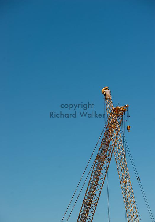 2017 JULY 25 - Construction cranes near South Lake Union in Seattle, WA, USA. By Richard Walker