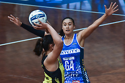 May 31, 2017 - Auckland, Auckland, New Zealand - Maria Tutaia of Mystics is in action while Tiana Metuarau of Pulse shoots at a goal during the ANZ Premiership netball match between Mystics and Pulse at North Shore Event Center in Auckland,New Zealand on May 31, 2017. (Credit Image: © Shirley Kwok/Pacific Press via ZUMA Wire)