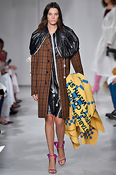 Model Leila Goldkuhl walks on the runway during the Calvin Klein Fashion show at New York Fashion Week Spring Summer 2018 held in New York, NY on September 7, 2017. (Photo by Jonas Gustavsson/Sipa USA)
