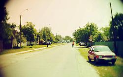 May 26, 2015 - Street in suburban. Soft focus. Retro style photo. (Credit Image: © Igor Golovniov/ZUMA Wire/ZUMAPRESS.com)
