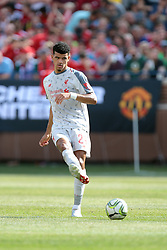 July 28, 2018 - Ann Arbor, Michigan, United States - Dominic Solanke (29) of Liverpool passes the ball during an International Champions Cup match between Manchester United and Liverpool at Michigan Stadium in Ann Arbor, Michigan USA, on Wednesday, July 28,  2018. (Credit Image: © Amy Lemus/NurPhoto via ZUMA Press)