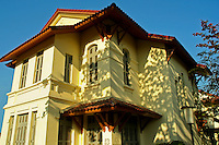 French Colonial Architecture in Vientiane - In order to make French colonists feel more at home and at the same time to reflect its vision of imperial grandeur, the French colonial government rebuilt  Laotian cities according to European specifications.