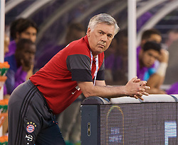 NEW JERSEY, USA - Wednesday, August 3, 2016: Bayern München's head coach Carlo Ancelotti during the International Champions Cup match against Real Madrid at the Red Bull Arena. (Pic by David Rawcliffe/Propaganda)