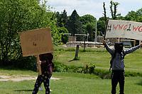 The UK Freedom Movement Southampton Common  rally against coronavirus lockdown Photo By Dawn Fletcher-Park