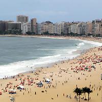 South America, Brazil. Rio de Janiero.  Copacabana Beach.