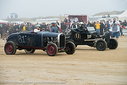 Jason Pall in his Ford Roadster up against Max Hermann in his 1925 Model T at TROG West - The Race of Gentlemen. Pismo Beach, CA, USA. Saturday October 15, 2016. Photography ©2016 Michael Lichter.