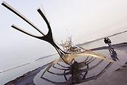 Photos of Sun Voyager (Solfar) sculpture during Iceland Airwaves Music Festival in Reykjavik, Iceland. November 7, 2012. Copyright © 2012 Matthew Eisman. All Rights Reserved.