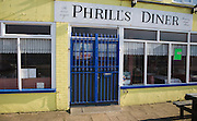 Phrill's Diner cafe at Jaywick, Essex, England