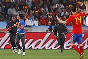 ©Jonathan Moscrop - LaPresse<br /> 07 07 2010 Durban ( Sud Africa )<br /> Sport Calcio<br /> Germania vs Spagna - Mondiali di calcio Sud Africa 2010 Semi finale - Durban Stadium<br /> Nella foto: invasore di campo<br /> <br /> ©Jonathan Moscrop - LaPresse<br /> 07 07 2010 Durban ( South Africa )<br /> Sport Soccer<br /> Germany versus Spain - FIFA 2010 World Cup South Africa Semi final - Durban Stadium<br /> In the Photo: a pitch invader