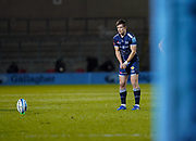 Sale Sharks fly-half AJ McGinty during a Gallagher Premiership Round 11 Rugby Union match, Friday, Feb 26, 2021, in Eccles, United Kingdom. (Steve Flynn/Image of Sport)