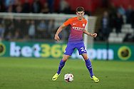 John Stones of Manchester city in action.EFL Cup. 3rd round match, Swansea city v Manchester city at the Liberty Stadium in Swansea, South Wales on Wednesday 21st September 2016.<br /> pic by  Andrew Orchard, Andrew Orchard sports photography.