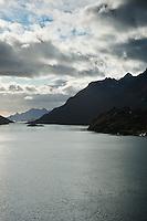 View of Raftsundet from Raftsund bridge, Vesteralen - Lofoten islands, Norway