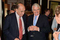 Left to right, GENERAL SIR MICHAEL JACKSON and SIR JOHN MAJOR at the Oldie Magazine's Oldie of The Year Awards held at Simpson's In The Strand, London on 4th February 2014.