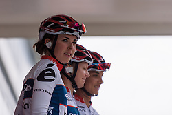 Lisa Klein is presented to the crowds with her Cervélo Bigla teammates at Boels Hills Classic 2016. A 131km road race from Sittard to Berg en Terblijt, Netherlands on 27th May 2016.