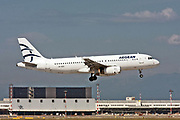 SX-DGX Aegean Airlines, Airbus A320 Photographed at Malpensa airport, Milan, Italy