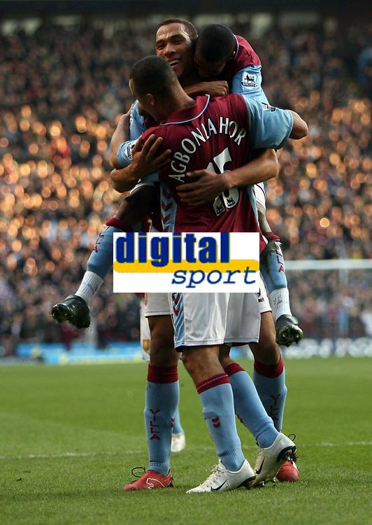 Photo: Rich Eaton.<br /> <br /> Aston Villa v West Ham. The Barclays Premiership. 03/02/2007. John Carew of Aston Villa celebrates scoring on his debut to make the score 1-0