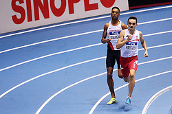 07.03.2014, Ergo Arena, Sopot, POL, IAAF, Leichtathletik Indoor WM, Sopot 2014, Tag 1, im Bild ANDREW OSAGIE ADAM KSZCZOT // ANDREW OSAGIE ADAM KSZCZOT during day one of IAAF World Indoor Championships Sopot 2014 at the Ergo Arena in Sopot, Poland on 2014/03/07. EXPA Pictures © 2014, PhotoCredit: EXPA/ Newspix/ Piotr Matusewicz<br /> <br /> *****ATTENTION - for AUT, SLO, CRO, SRB, BIH, MAZ, TUR, SUI, SWE only*****