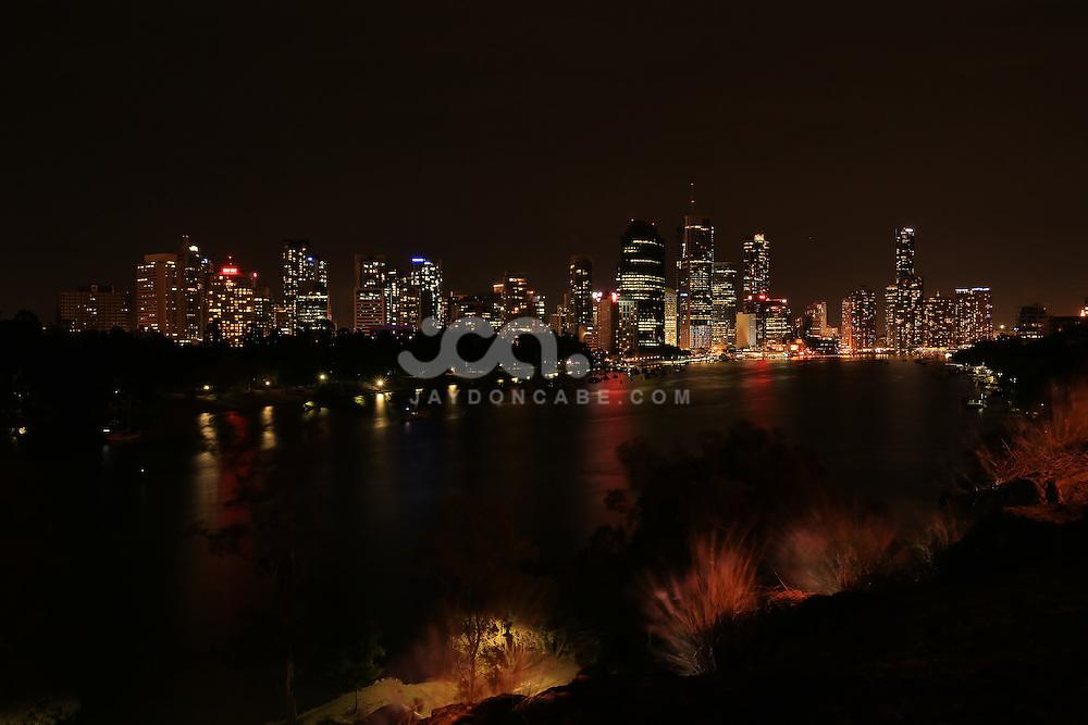 Brisbane Night Skyline, taken from kangaroo Point