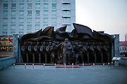 North Korea is one of the world's last closed societies, a communist state that aspires nuclear power and where the people are not free to get in or out. <br /> Dandong lies at the border between North Korea and China, it used to be the city that connected both countries with a bridge at the Yalu river, however the bridge was cut in a half to make sure that there was no more connection with the outside world. The borders or the country are still very much militarized.