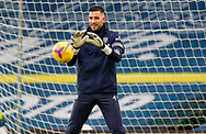 Leeds United goalkeeper Francisco Casilla (13) warming up  during the Premier League match between Leeds United and Brighton and Hove Albion at Elland Road, Leeds, England on 16 January 2021.