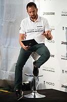 "Basketball announcer David Carnicero during the event ""Reta a tu idolo"" at Plaza Mayor in Madrid. September 12, Spain. 2016. (ALTERPHOTOS/BorjaB.Hojas)"