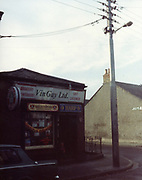 old dublin street photos October 1983 Vin Gay Ltd grocery and off licence Harp, Satzenbraw, Old amateur photos of Dublin streets churches, cars, lanes, roads, shops schools, hospitals