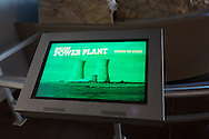Nuclear power plant on a touch screen.