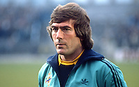 Pat Jennings, Arsenal & N Ireland footballer, goalkeeper, 198505505PJ.<br /> <br /> Copyright Image from Victor Patterson, Belfast, UK<br /> <br /> t: +44 28 9066 1296 (from Rep of Ireland 048 9066 1296)<br /> m: +44 7802 353836<br /> e: victorpattersonbelfast@gmail.com<br /> <br /> www.images4media.com<br /> <br /> Please see my full Terms and Conditions of Use at https://www.images4media.com/p/terms-conditions - it is IMPORTANT that you familiarise yourself with them.<br /> <br /> Images used online incur an additional cost. This cost should be agreed in writing in advance. Online images must be visibly watermarked i.e. © Victor Patterson or that of the named photographer within the body of the image. The original metadata must not be deleted from images used online.<br /> <br /> This image is only available for the use of the download recipient i.e. television station, newspaper, magazine, book publisher, etc, and must not be passed on to a third party. It is also downloaded on condition that each and every usage is notified within 7 days to victorpattersonbelfast@gmail.com.<br /> <br /> The right of Victor Patterson (or the named photographer) to be identified as the author is asserted in accordance with The Copyright Designs And Patents Act (1988). All moral rights are asserted.