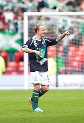 Hibernian's Leigh Griffiths at the end..Hibernian 4 v 3 Falkirk, William Hill Scottish Cup Semi Final, Hampden Park..©Michael Schofield..