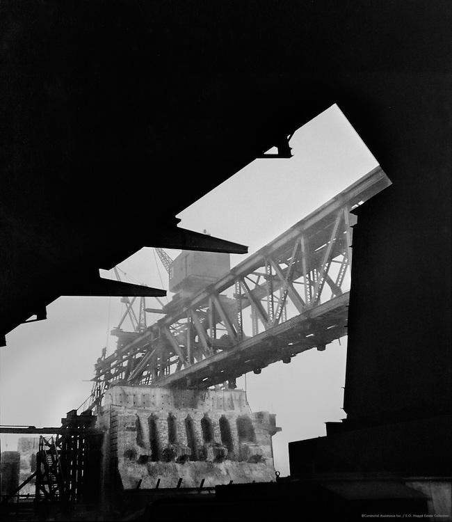 Waterloo Bridge, Under Construction, London, England, 1935
