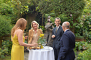 DINA DABBAS RIFAI; SUSANNE VAN HAGEN; MARC - OLIVIER WAHLER; DR. HASAN KAHRAMAN, Dinner to celebrate the 10th Anniversary of Contemporary Istanbul Hosted at the Residence of Freda & Izak Uziyel, London. 23 June 2015
