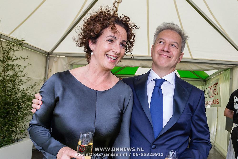 NLD/Amsterdam/20150604 - Amsterdam Diner 2016 Femke Halsema en partner Robert Oey