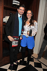 EDWARD TAYLOR and LEONORA DE FERRANTI at a party hosted by TLC to celebrate signing their 5000th member and Ralph Lauren to celebrate the opening of the first Ralph Lauren Rugby store in the UK at 43 King Street, Covent Garden, London on 30th November 2011.