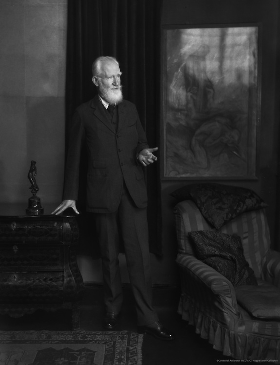 George Bernard Shaw, Irish Playwright and Author, 1923